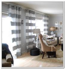 Unusual Design Ideas Grey And White Striped Curtains Horizontal Stripe Jpg  Bedroom