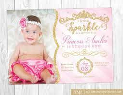Princess Invite Princess Invitation Princess 1st Birthday Invite Pink And Etsy