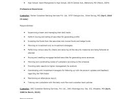 Download Custodian Resume Sample Haadyaooverbayresort Com