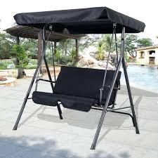 patio glider with canopy furniture patio swing canopy replacement person with polished rod iron outdoor glider