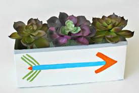 recycled diy succulent planter box