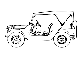 Legerjeep Kleurplaat Malvorlage Jeep Ausmalbild 11327 Kleurplatenlcom