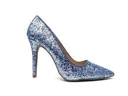 Light Blue Glitter Heels The Milia Pump Light Blue
