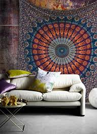 home accessory tapestry tapestry wall hanging mandala home decor home decor hippie hippie bohemian peacock queen bedspread coverlet throw