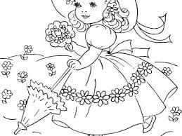 Spring Coloring Sheets Printable Flower Pages Free For Adults Pdf