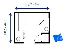 Hereu0027s Another 8 X 9ft (2.44 X 2.74m) Twin / Single Bedroom Layout