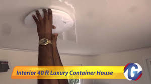Ft Luxury Container House Interior YouTube - Container house interior