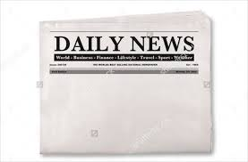 Blank Newspaper Template 20 Free Word Pdf Indesign Eps Within
