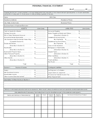 financial management excel personal financial statement excel personal financial statement