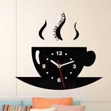 cute wall clock coffee cup shaped