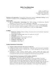 Fresher Testing Resume Template Websites Web Design