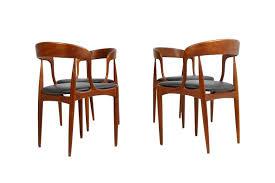 beautiful set dark brown real leather upholstery very good teak base great design