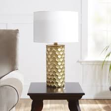 glam lighting. hive gilded table lamp with shade glam lighting