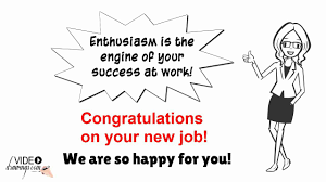 congratulations on your new job congratulations on your new job
