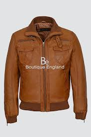 tornado men s 9265 tan vintage washed fitted cool funky short er leather jacket