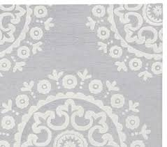 pottery barn kids mckenna rug 3 x 5 gray 100 wool new medallion rug authentic