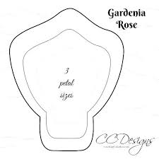 Paper Flower Printables Paper To Petal Templates Free Paper Rose Template Paper Flower