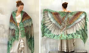 these cozy bird shawls give you wings to wrap yourself up in soaring styles