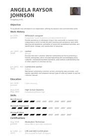 Caregiver Healthcare Resume Example Professional 2 463 600 Template
