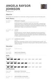 Private Duty Caregiver Resume Template All Best Cv Resume Ideas