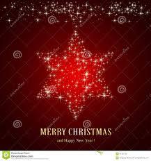 Weihnachtsstern Auf Rotem Hintergrund Vektor Abbildung