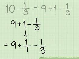 image titled subtract fractions from whole numbers step 8