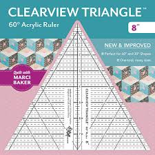 Clearview Triangle 60 degree Acrylic Ruler 8 inch designed by Sara ... & Clearview Triangle 60° Acrylic Ruler 8