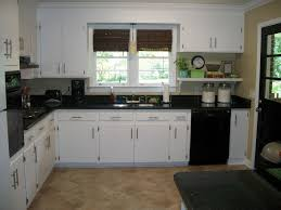 Dark Granite Kitchen White Kitchen Cabinets With Dark Countertops Outofhome Homes