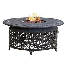 round outdoor propane fire pit table