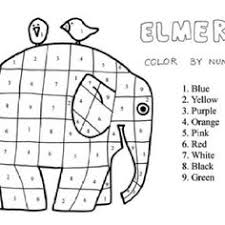 6 Best Images Of Elmer The Elephant Worksheets Elmer Color By