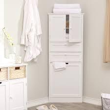 corner linen cabinet with hamper corner cabinets with regard to corner hamper