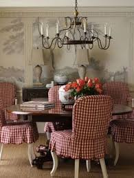 i love these chair slipcovers i like how the scallops are not boxy but rounded at the ends i just love gingham neiman marcus red and pink gingham