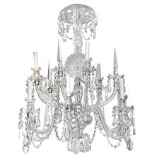 antique anglo irish crystal chandelier for