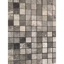 tumbled marble tile. Tundra Grey 2X2 Tumbled Marble Mosaic Tile W