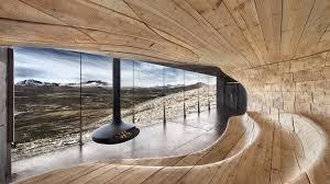 Futuristic Home Interior Decor Ideas With Black Hanging Fireplace - Futuristic home interior