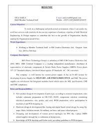 Mechanical Design Engineer Resume Sample Resume Sample