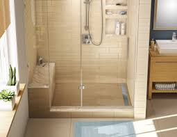 Built In Bench Shower With Built In Bench Seat Showers Decoration
