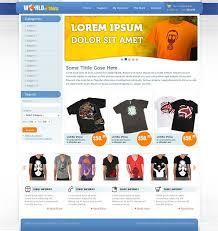Free Ecommerce Website Templates Gorgeous World Of TShirts Free Ecommerce Website CSS Template For TShirts