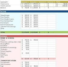 How To Budget As A College Student Excel Monthly Budget Template College Student Budget Aakaksatop Club