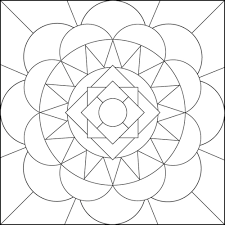 Geometric Flower Coloring Pages 452619