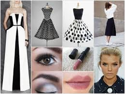 black white dress makeup tips fashion trends photo exles