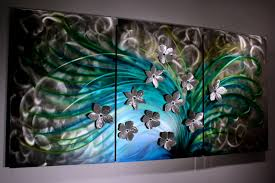 floral art metal wall sculpture abstract home decor painting