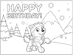 Happy Birthday Printout Free Happy Birthday Coloring Pages For