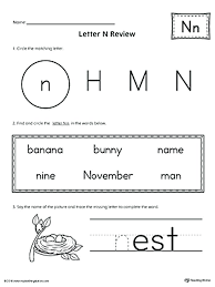 Letter N Worksheets For Preschool And Kindergarten Crafts Tracing R ...