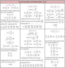 solving trigonometric equations worksheet with solutions