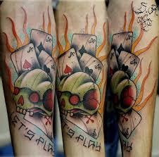 значение тату игральные карты фотографии татуировки игральные карты