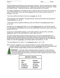 Context Clues: A Christmas Carol Worksheet for 10th - 12th Grade ...