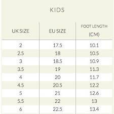 Bobux Size Chart