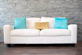 white leather couches with pillows. Perfect Couches White Leather Plush Sofa Decorative Pillows  Inside Couches With Pillows