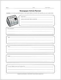 Template Of A Newspaper Article Metabots Co